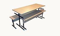 Комплект мебели для школьной столовой на 6 мест ( стол+2лавки; 1500мм)
