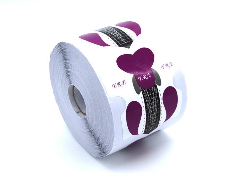 Форма для наращивания ногтей стилет фиолетовая YRE (500 шт)
