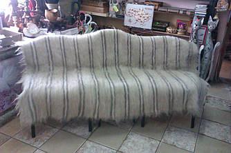 Карпатский плед ліжник из натуральної овечої вовни,