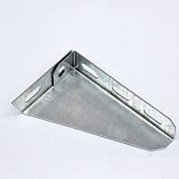Кронштейн настенный угловой для лотка 100 мм, легкий, оцинкованный