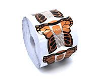 Форма для наращивания ногтей бабочка золото YRE (500 шт)
