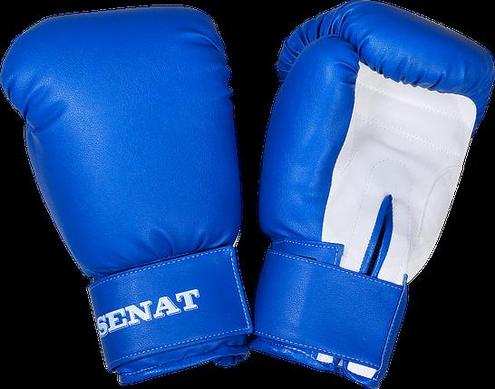 Перчатки боксерские 10 унций, сине-белые, 1499-bl/wht, фото 2