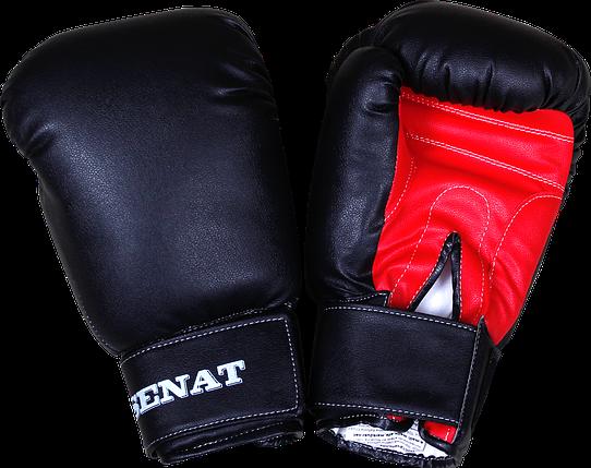 Перчатки боксерские 10 унций, черно-красные, 1499-blk/red, фото 2