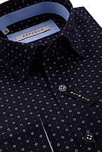 Рубашка мужская Kuba Темно-синяя