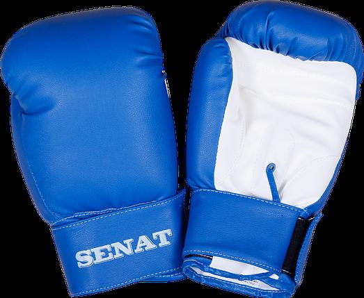 Перчатки боксерские 8 унций, сине-белые, 1550-bl/wht, фото 2