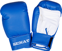Перчатки боксерские 6 унций, сине-белые, 1543-bl/wht