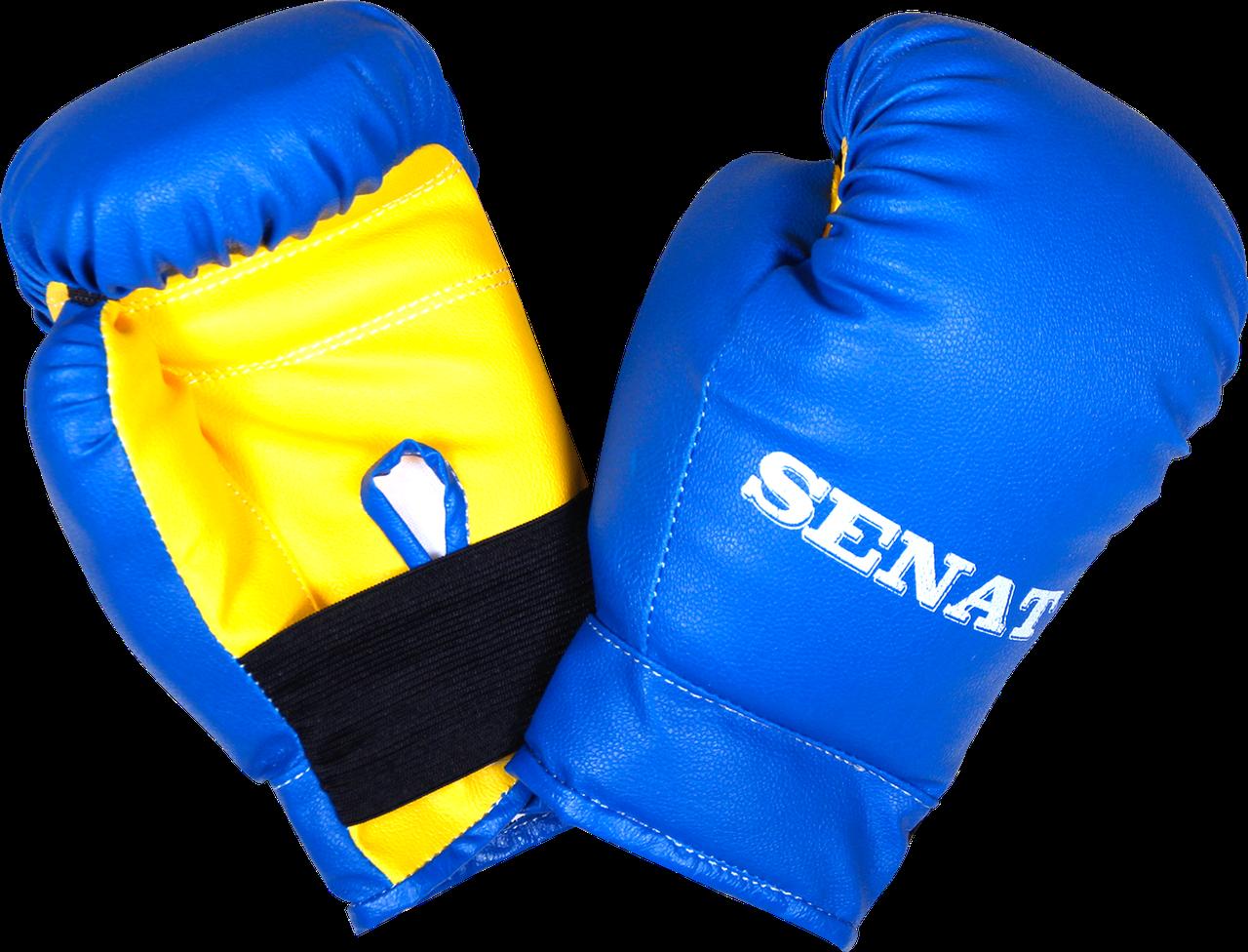 Рукавички боксерські 4 унцій, синьо-жовті, 1536-bl/yllw