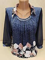 Легкая блуза с шифоновым рукавом