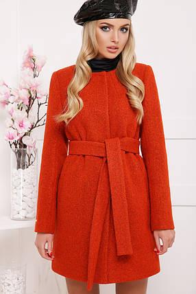 Шерстяное пальто оранжевого цвета, фото 2