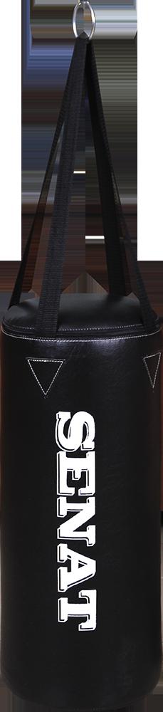Мешок боксерский 50х22, кожзам, черный, 4 подвеса, 1307-blk