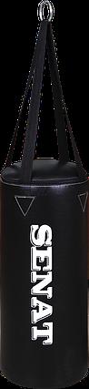 Мешок боксерский 50х22, кожзам, черный, 4 подвеса, 1307-blk, фото 2