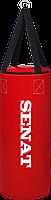 Мешок боксерский 50х22, кожзам, красный, 4 подвеса, 1307-red