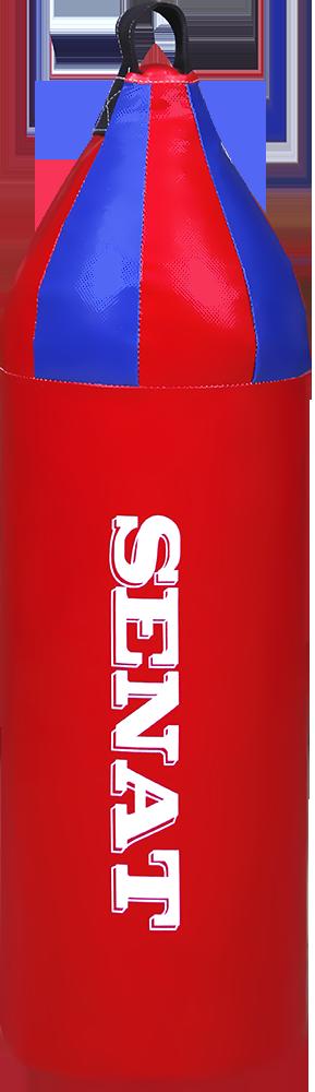 Мішок боксерський шоломоносний 70х21, кожзам, червоний, 1222-red