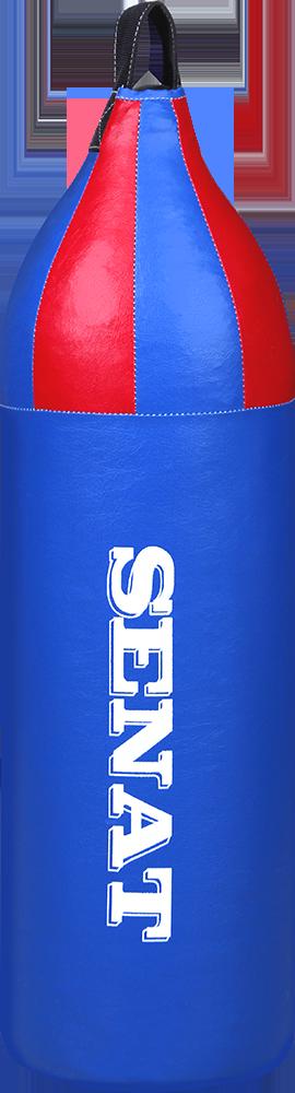 Мешок боксерский шлемовидный 70х21, кожзам, синий, 1222-bl
