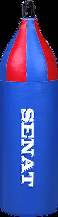 Мешок боксерский шлемовидный 70х21, кожзам, синий, 1222-bl, фото 2