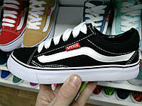 30-36 рр Детские и подростковые кеды (кроссовки) вансы Vens под Vans Old Skool  черные