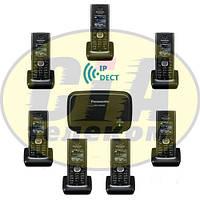 Panasonic KX-TGP600RUB + KX-TPA60RUB - 6шт, комплект SIP-DECT телефонов