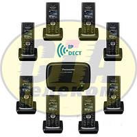 Panasonic KX-TGP600RUB + KX-TPA60RUB - 7шт, комплект SIP-DECT телефонов