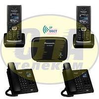 Panasonic KX-TGP600RUB + KX-TPA60RUB - 1шт + KX-TPA65RUB - 2шт, комплект SIP-DECT телефонов