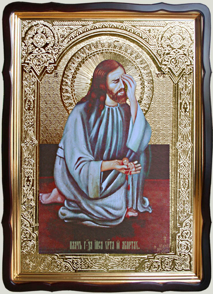 Икона Плач Иисуса Христа об абортах 35х30см