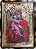 Владимирская икона Божией Матери 35х30см