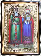 Икона Владимир и Ольга, равноапостольные 35х30см