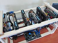 Майнинг ферма Sapphire Nitro+ Rx570 4gb 6 видеокарт