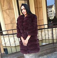 Новая коллекция! Женская шуба - жилет из меха песца, под заказ 14 дней .