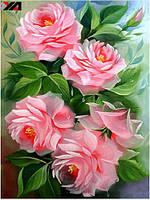 Пионы розовые полная выкладка 30*40 см