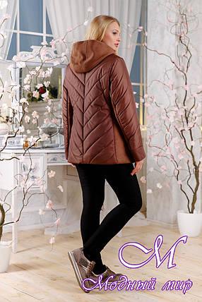 Стильная батальная куртка осень-весна (р. 48-60) арт. 1107 Тон 4, фото 2