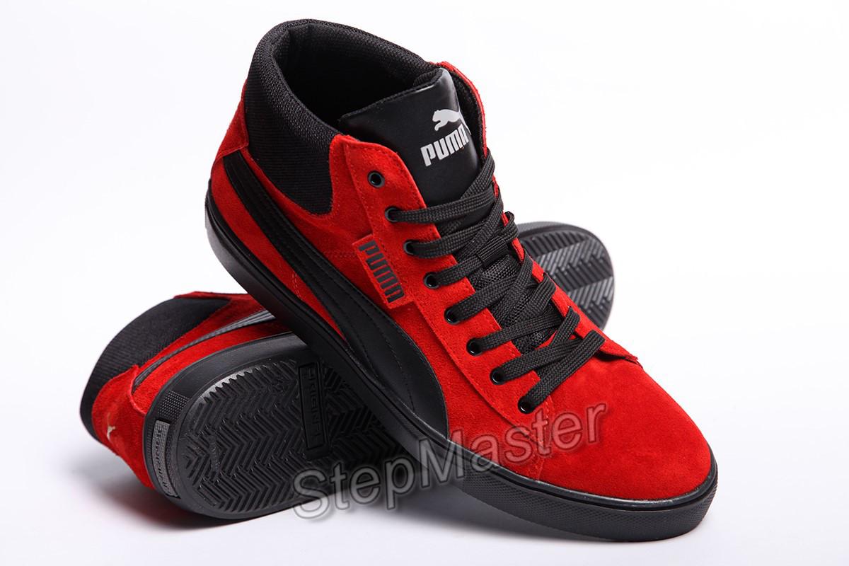 dfcf2a95 Кеды кожаные мужские Puma Suede black-red, цена 900 грн., купить Вознесенск  — Prom.ua (ID#663106770)