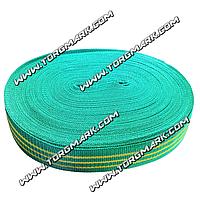 Лента буксировочная 50 мм х 50 метров - тесьма для стяжных ремней зеленая
