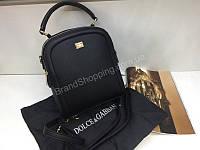 Стильная сумочка-рюкзак Dolce&Gabbana Lux в черном цвете, фото 1