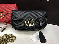 ХИТ!! Оригинальная кожананя сумочка Gucci в сумочке есть номерной знак 1803