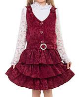 Вельветовый бордовый сарафан. Сарафан вельветовый для девочки. Школьный сарафан из вельвета