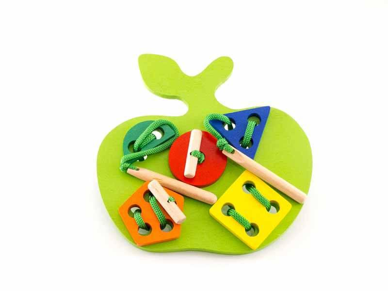 Шнуровка яблоко-геометрическое, окрашенное, Розумний Лис