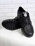 Мужские кроссовки NIKE в черной коже (Черный). АРТ- 6312-28.3