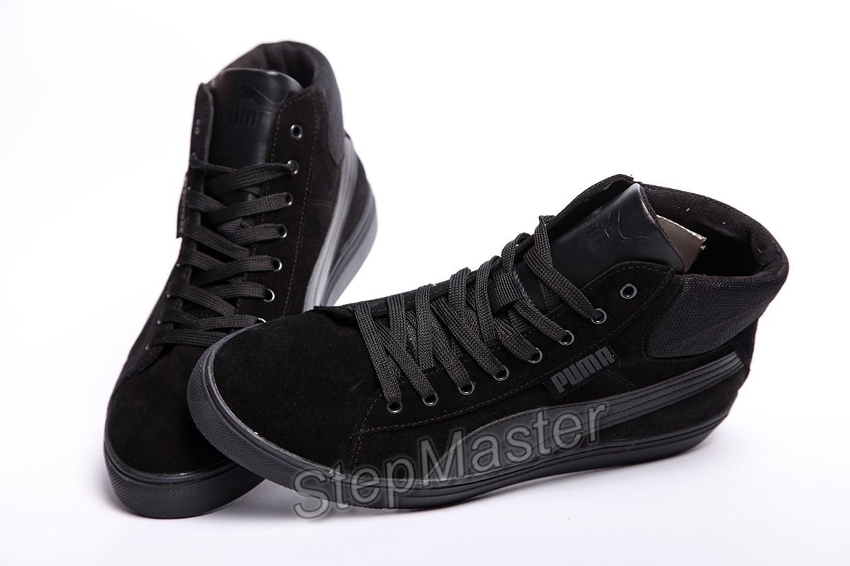 f47dea05b7d Кеды кожаные мужские Puma Suede black  продажа