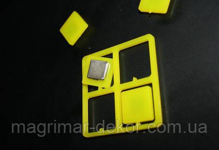 Цветные неодимовые магниты, набор 4шт