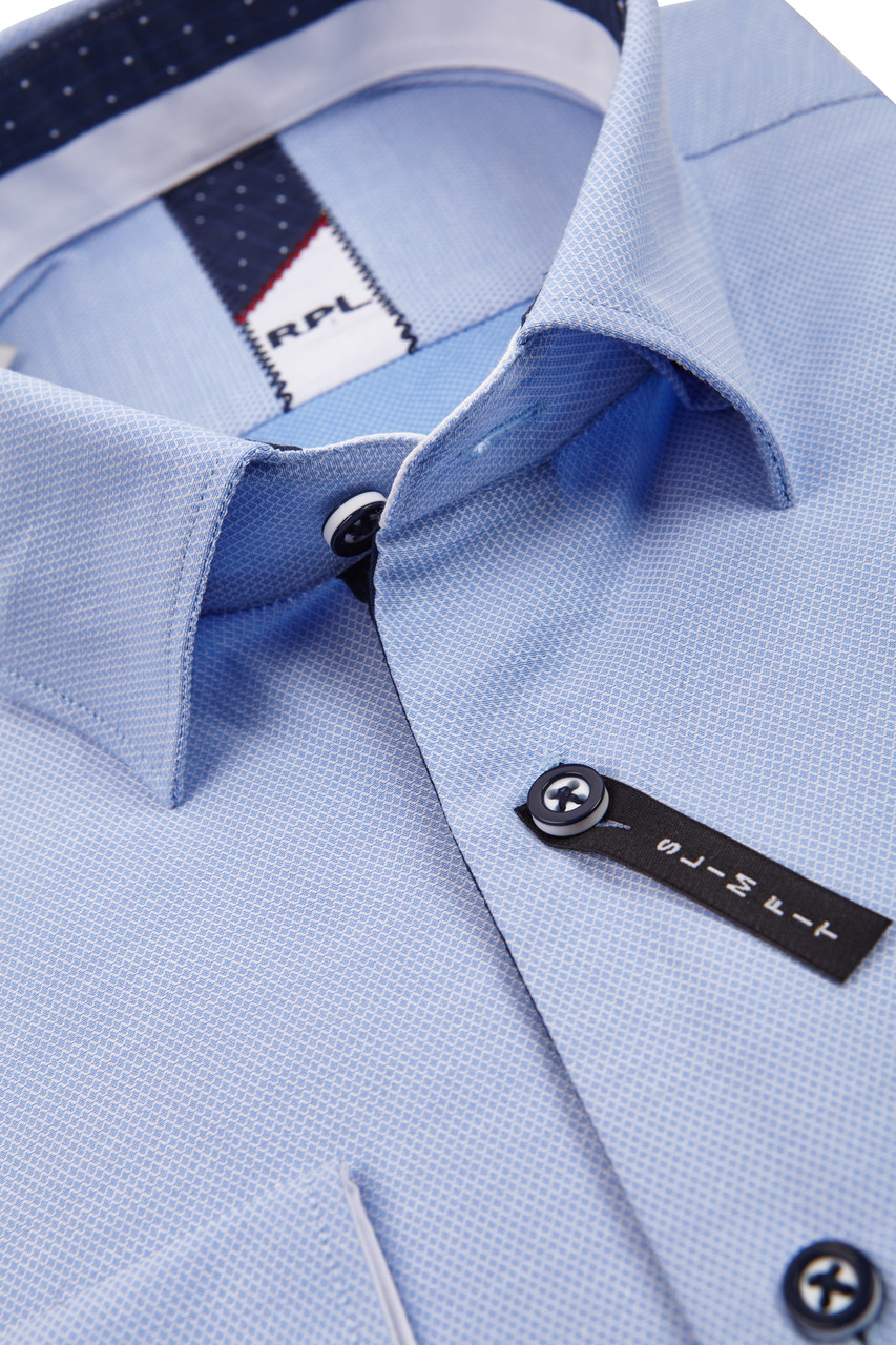 Голубая рубашка KS 1722-6 разм. 3XL