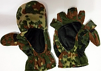 Перчатки-варежки зимние  (флис+ткань)
