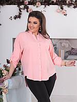"""Асимметричная женская блуза """"SIFI"""" с четвертным рукавом (большие размеры)"""