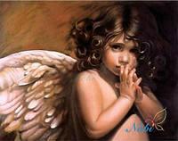 """Картина своими руками - алмазная вышивка """"Ангелочек"""", фото 1"""