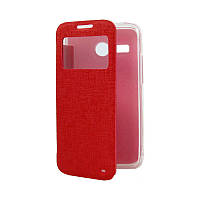 Чехол Book Cover with Window Samsung I9500 Red