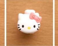Защита для кабеля Hello Kitty с розовым бантиком