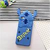 Чехол накладка на iPhone 5/5s/se синий Stitch
