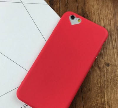 ЧехолнакладканаiPhone5/5s/seкрасныйсвырезомподсердце, плотныйсиликон