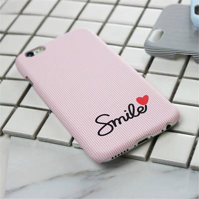 Чехол  накладка  на  iPhone 5/5s/se розовый в полоску Smile