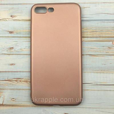 ЧехолнакладканаiPhone7 Plus/8plusизплотногосиликона,розовоезолото