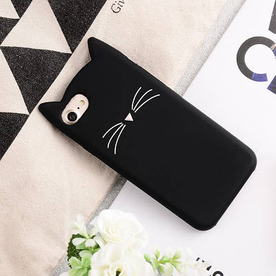 Чехол накладка на iPhone 5/5s/se черный котик